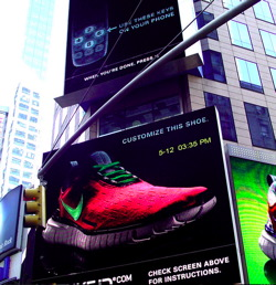 Nike New York Mobile Interactive Billboard